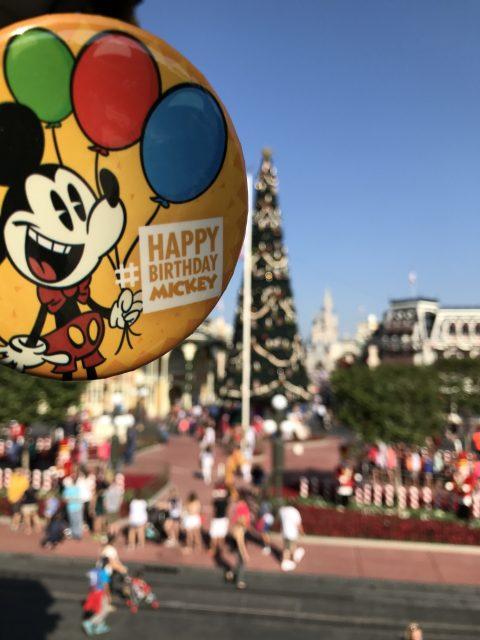 Happy Birthday Mickey button
