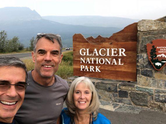 Glacier entrance sign