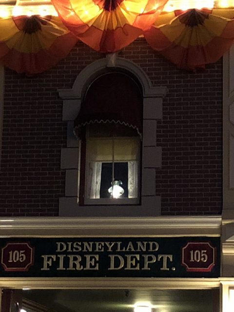 Walt Disney's apartment lamp at night