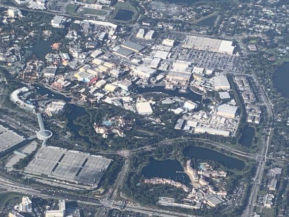 Universal Studios ariel view