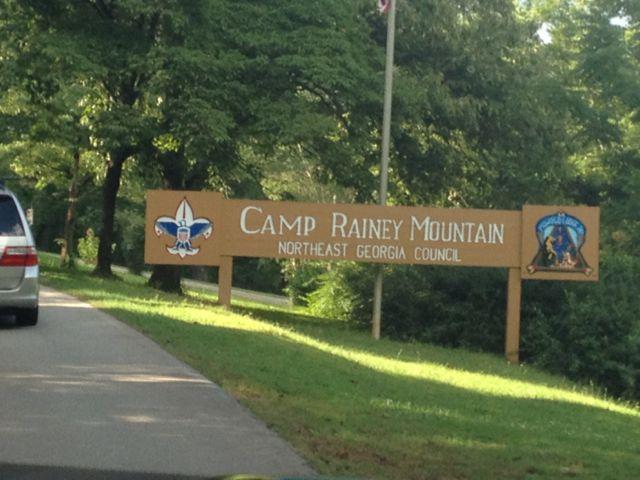 Camp Rainey Mountain sign