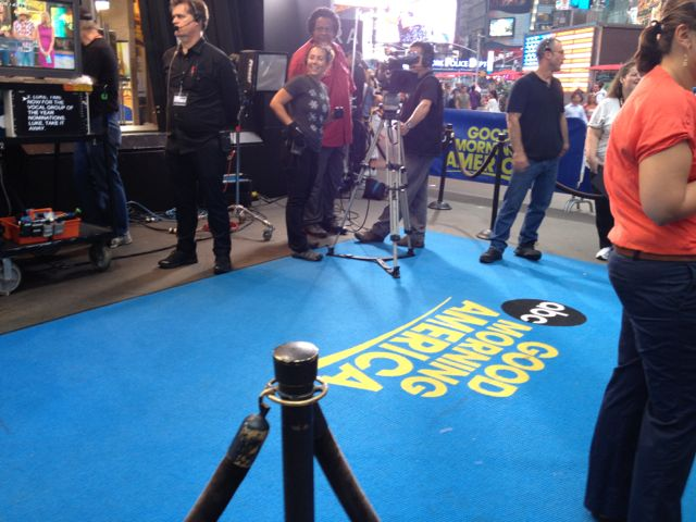 Good Morning America set from outside the studio