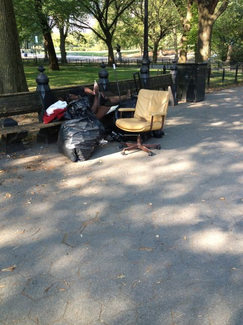 Central Park homeless people
