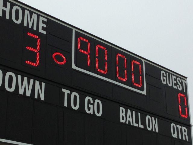 photo of soccer scoreboard