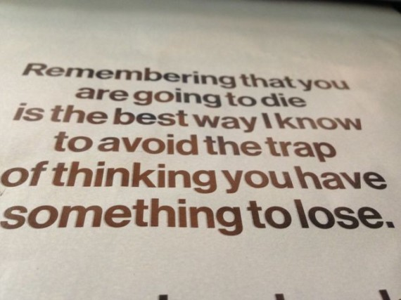 Steve Jobs quote on living and dying