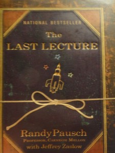 The Last Lecture front cover photo