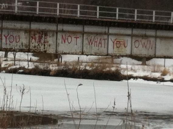 Iowa bridge in winter