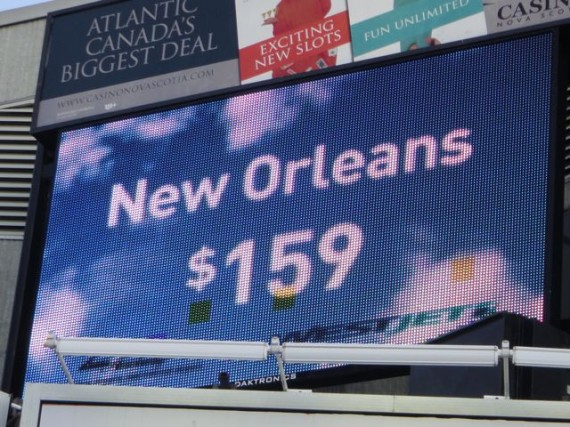 New Orleans travel billboard