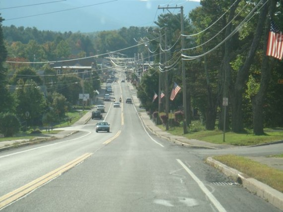Main Street in Hunter Mountain, NY