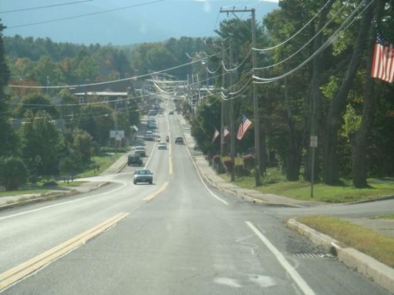 Main Street in Hunter Mountain, NY