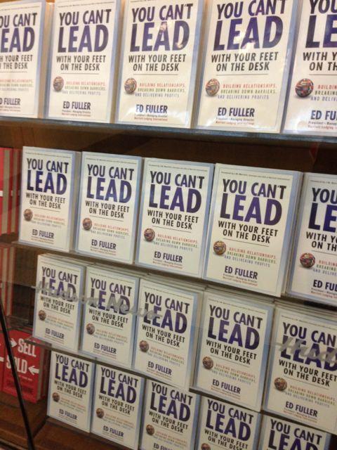 Airport bookstore display