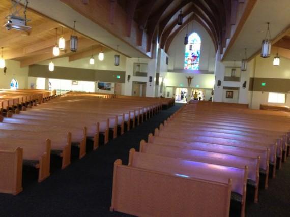 Inside of large Orlando Catholic Church