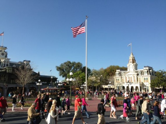 Magic Kingdom rope drop March 2013