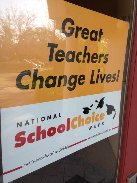 School door sign