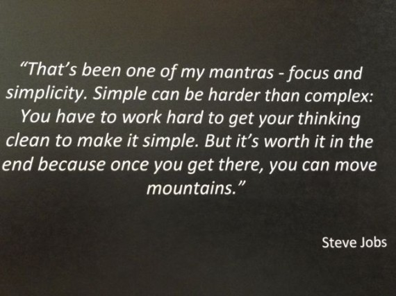 Steve Jobs quote on simplicity