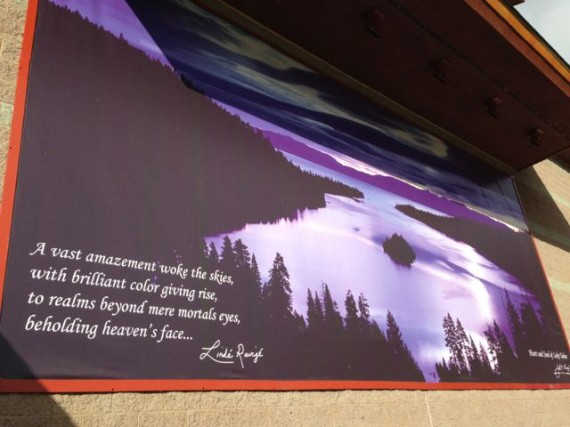 Lake Tahoe Emerald Cove Building mural