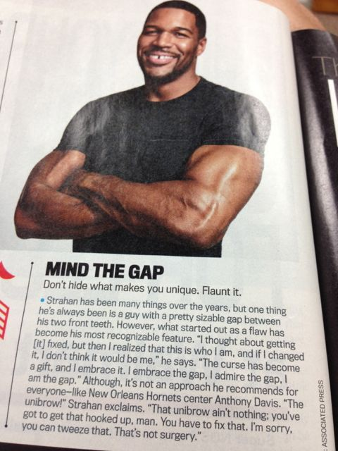 Michael Strahan photo in Men's Fitness magazine