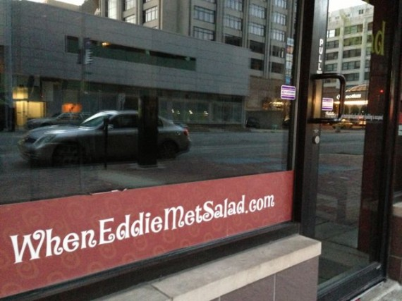 clever restaurant name on window