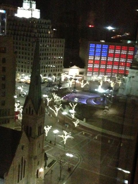 View from my Indianapolis Sheraton room