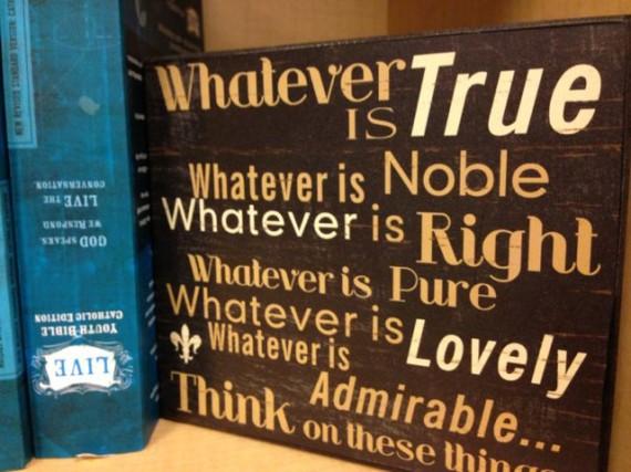 Catholic religious thoughts on bookshelf