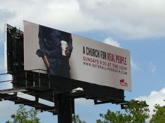 Weird Church billboard