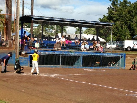 Little League game in Hilo Hawaii