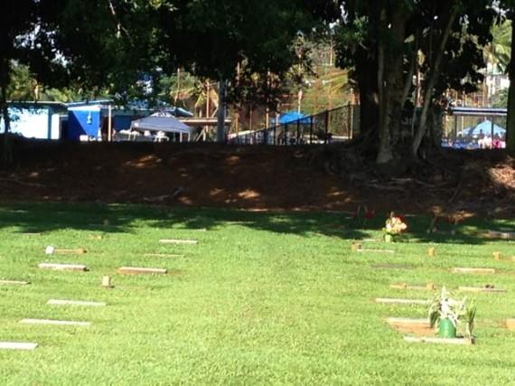 Hilo, Hawaii Cemetery near Baseball fields