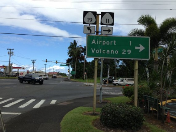 Hilo Hawaii road sign
