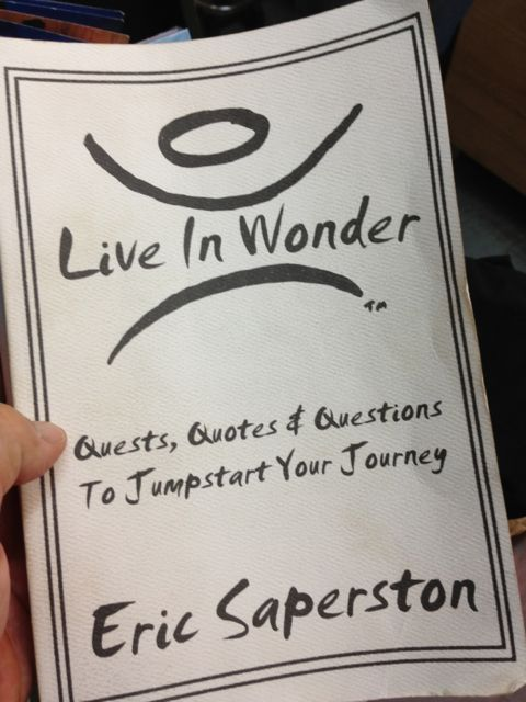 Live In Wonder (book), by Eric Saperston