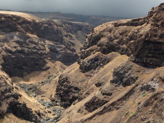 Hawaiian pacific island canyons and cliffs