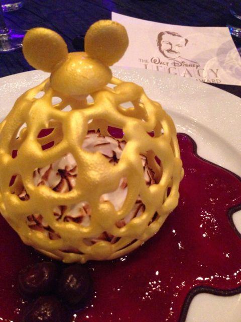 Fancy dessert at Disney Legacy Award banquet