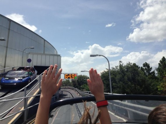 Test Track top speed sign