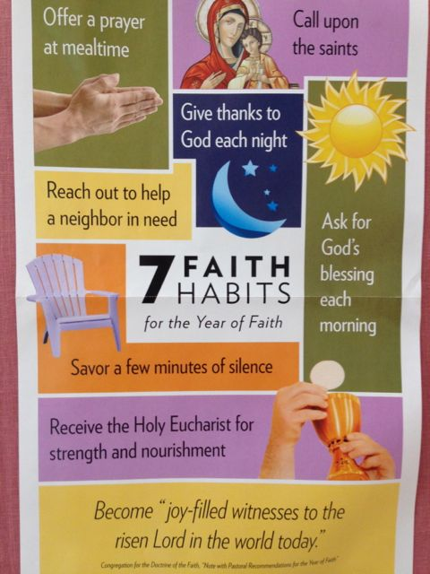 Poster of Catholic 7 Faith habits