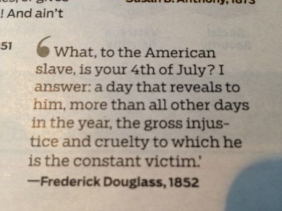 Frederick Douglass slavery quote