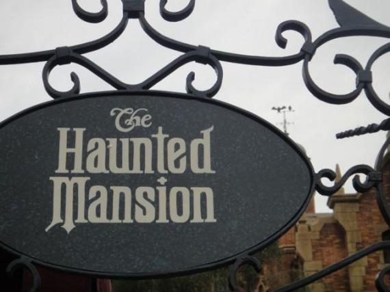Magic Kingdom Haunted mansion sign