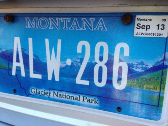 Glacier National Park's Lake McDonald on a Montana License plate