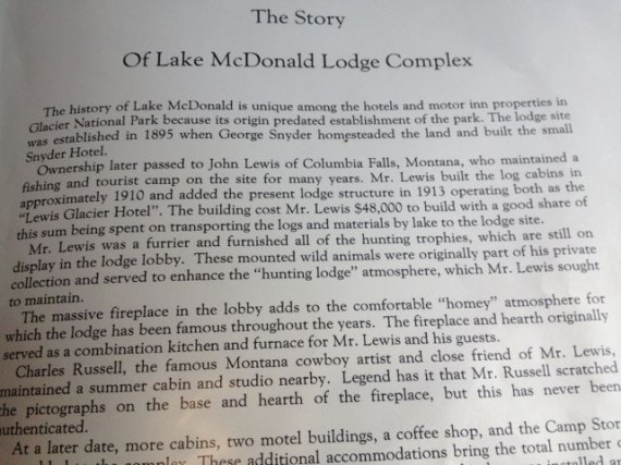 Story of Lake McDonald Lodge Glacier National Park