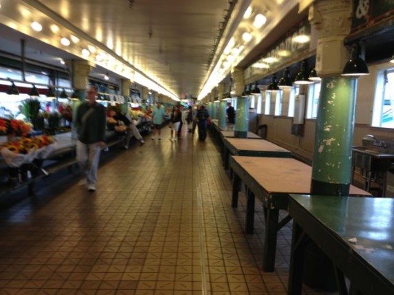 Pike Place Market Seattle at 8am - nearly empty