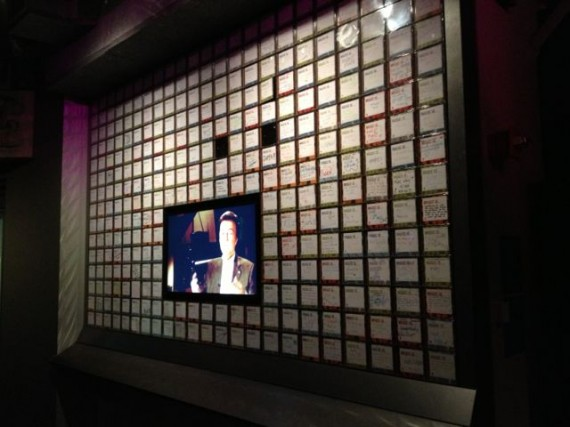 Hand written notes on wall at Music Museum