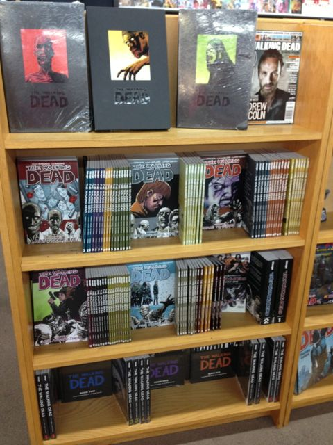 Walking dead book display
