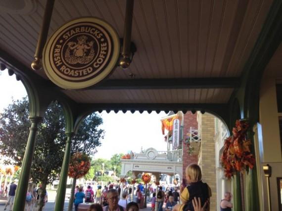 Magic Kingdom's first ever Starbucks