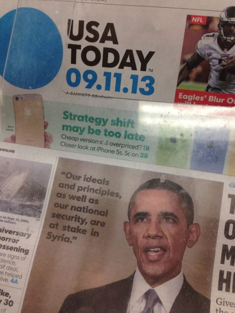 USA today September 11, 2013 issue