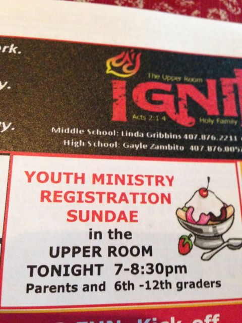 Youth Ministry ad
