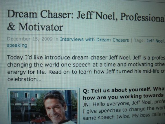 jeff noel featured as a dream chaser