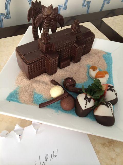 Chocolate turndown at Florida luxury resort