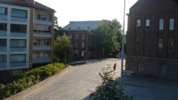 Lahti, Finland streets at dawn