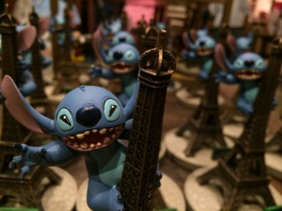 Stich and the Eiffel Tower souvenirs