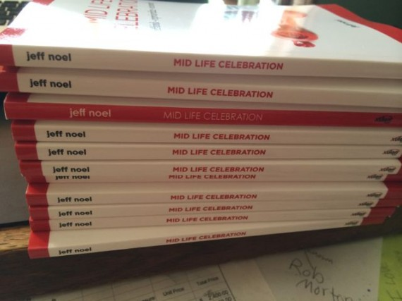 Midlife Celebration book spine before and after