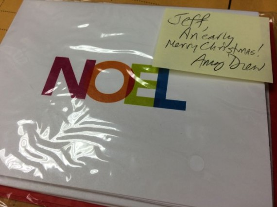 Greeting card featuring the word NOEL