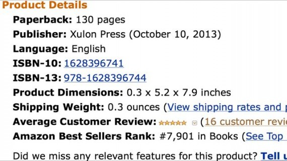 Mid Life Celebration Amazon sales rank screen shot